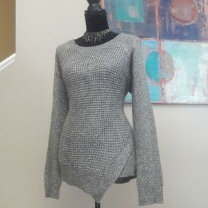 New Directions/ Grey /Asymmetrical Sweater